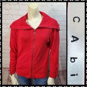 Cabi medium red zip up sweatshirt long sleeve